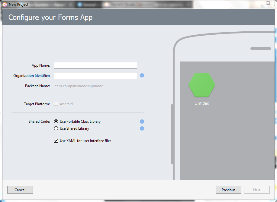 Why there is no option for Android App in Xamarin Studio