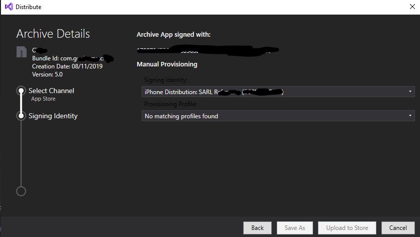 Archive Visual Studio