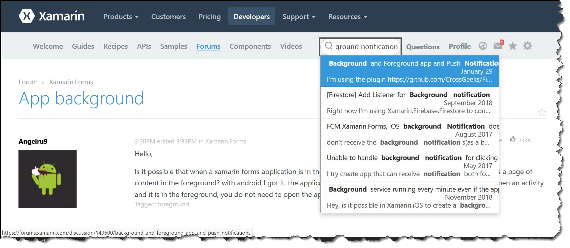 App background — Xamarin Community Forums