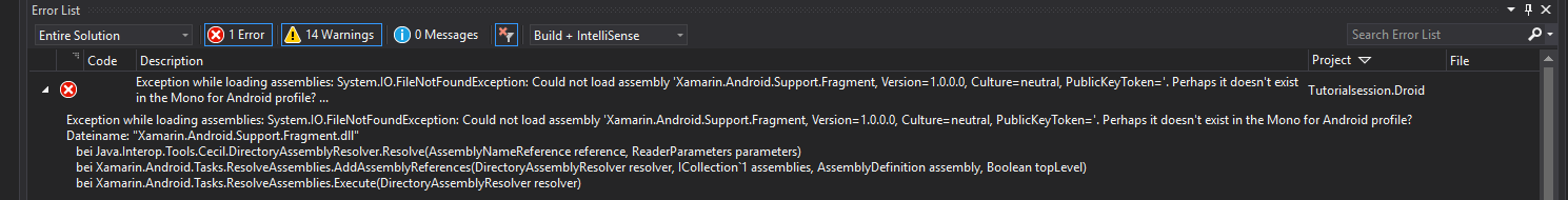 System IO FileNotFoundException Could not load assembly System