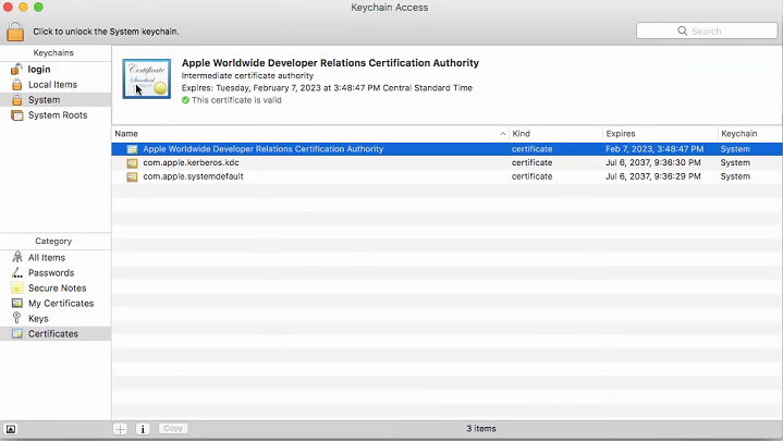 Issue with creating Distribution Certificate and  p12 File — Xamarin