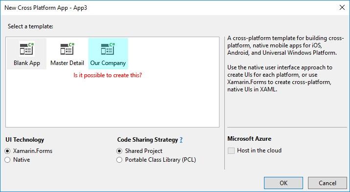 How to Create a Custom Xamarin Forms Template — Xamarin Community Forums