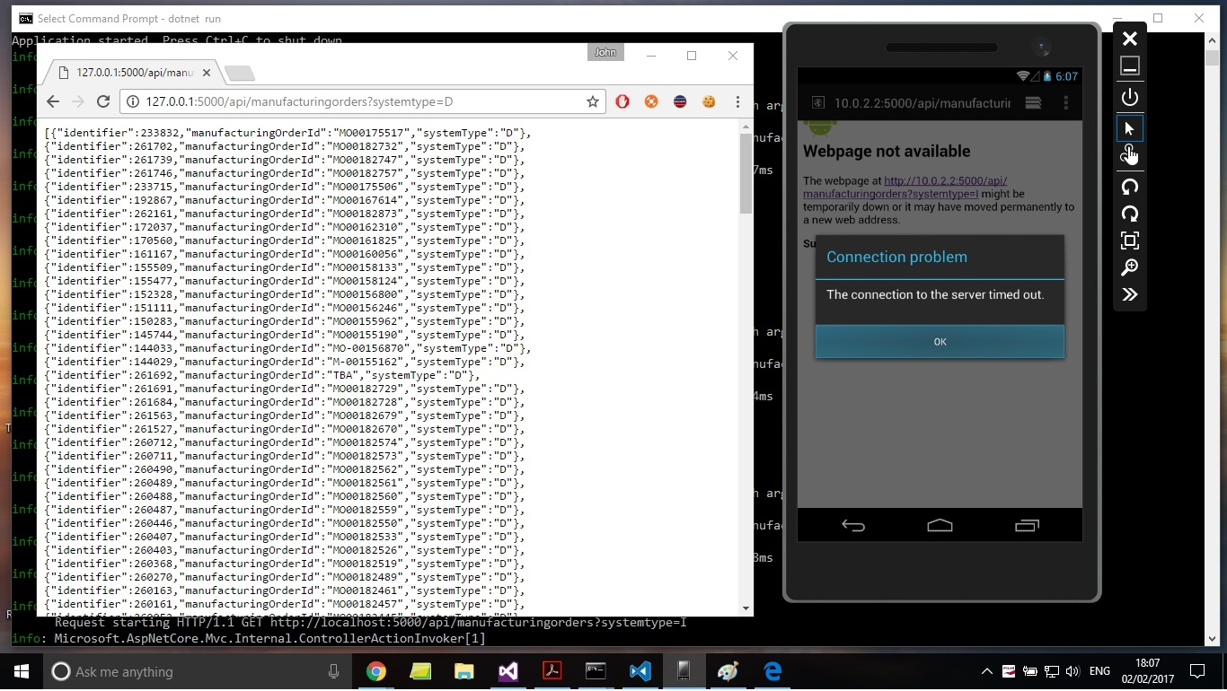 Can't access localhost from Android Windows Emulator — Xamarin