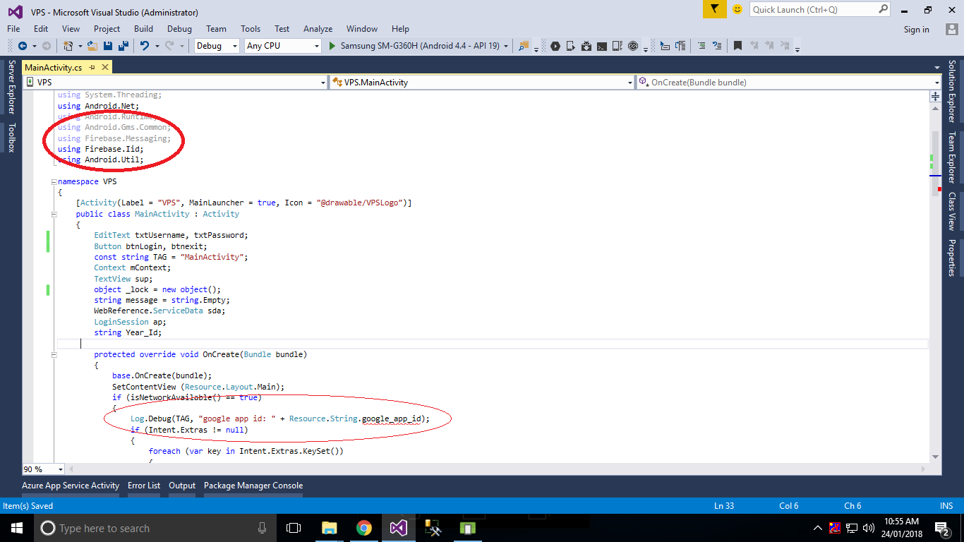 xamarin 'Resource String' does not contain a definition for