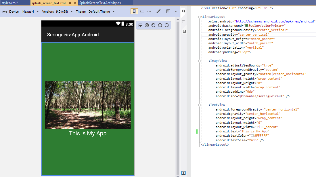 Splash Screen With Image And Text Xamarin Community Forums