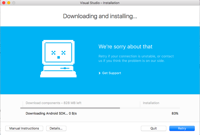 Failed To Install Visual Studio for Mac (Download Fails