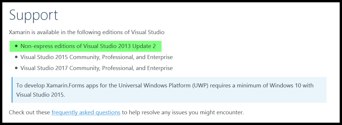 Visual Studio 2013 issue: upgrade to 4 6 0 297: no
