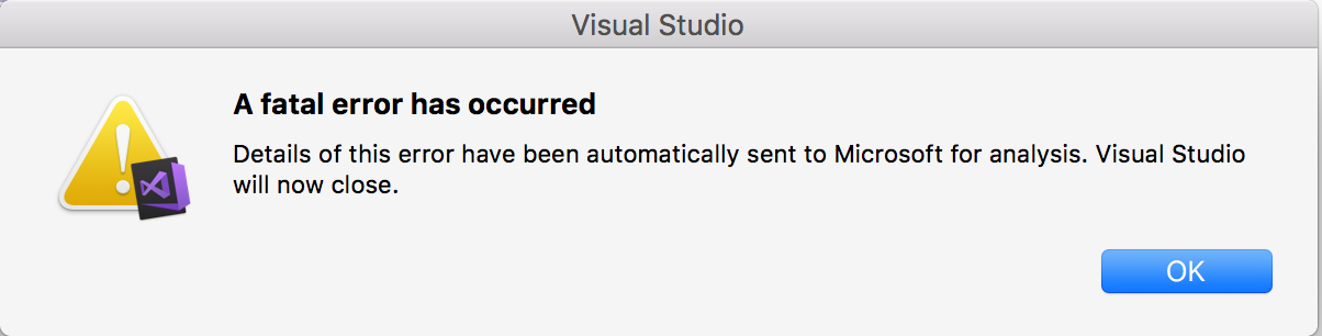 Visual Studio For Mac 7 2 (Build 636) - Unable to Open Existing