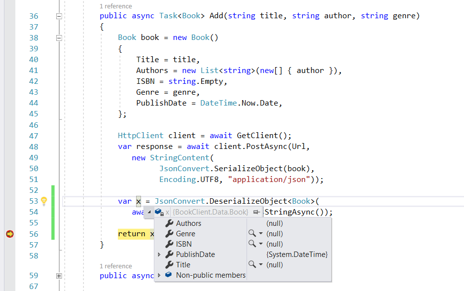 Null response in REST API course — Xamarin Community Forums