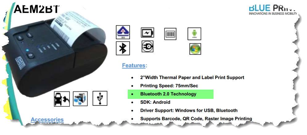 Implementing Bluetooth features to Print on a bluetooth printer in