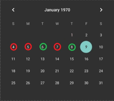 Is it possible to mark permanently certain past day in Calendar view