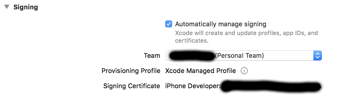 No matching provisioning profiles found - can't deploy iOS