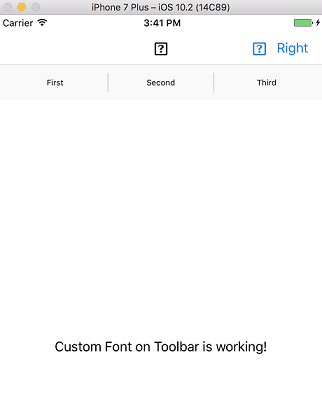 Is it possible to use a custom font for ToolbarItems? — Xamarin