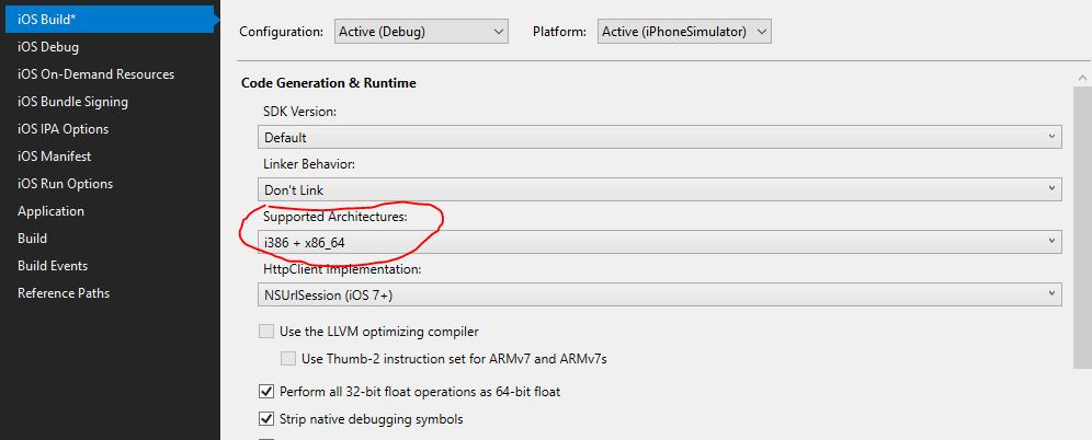 iPhone simulators missing from debug device list — Xamarin Community