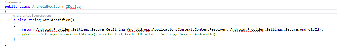 How to get DeviceId in android and ios — Xamarin Community Forums