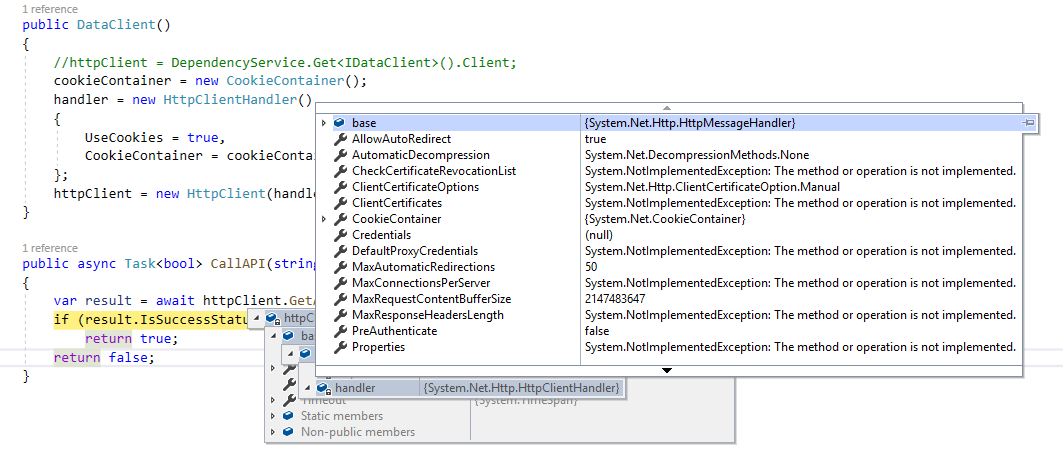 How can I confirm HttpClient is Native when I use Xamarin