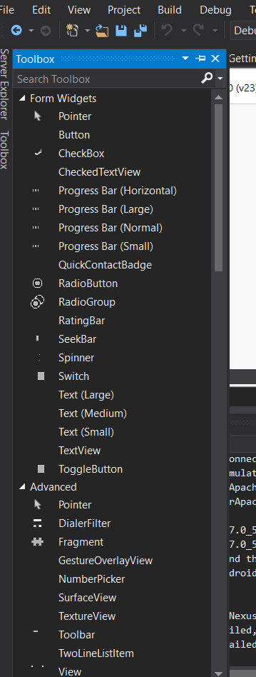 Icons for Xamarin Android toolbox items not showing up