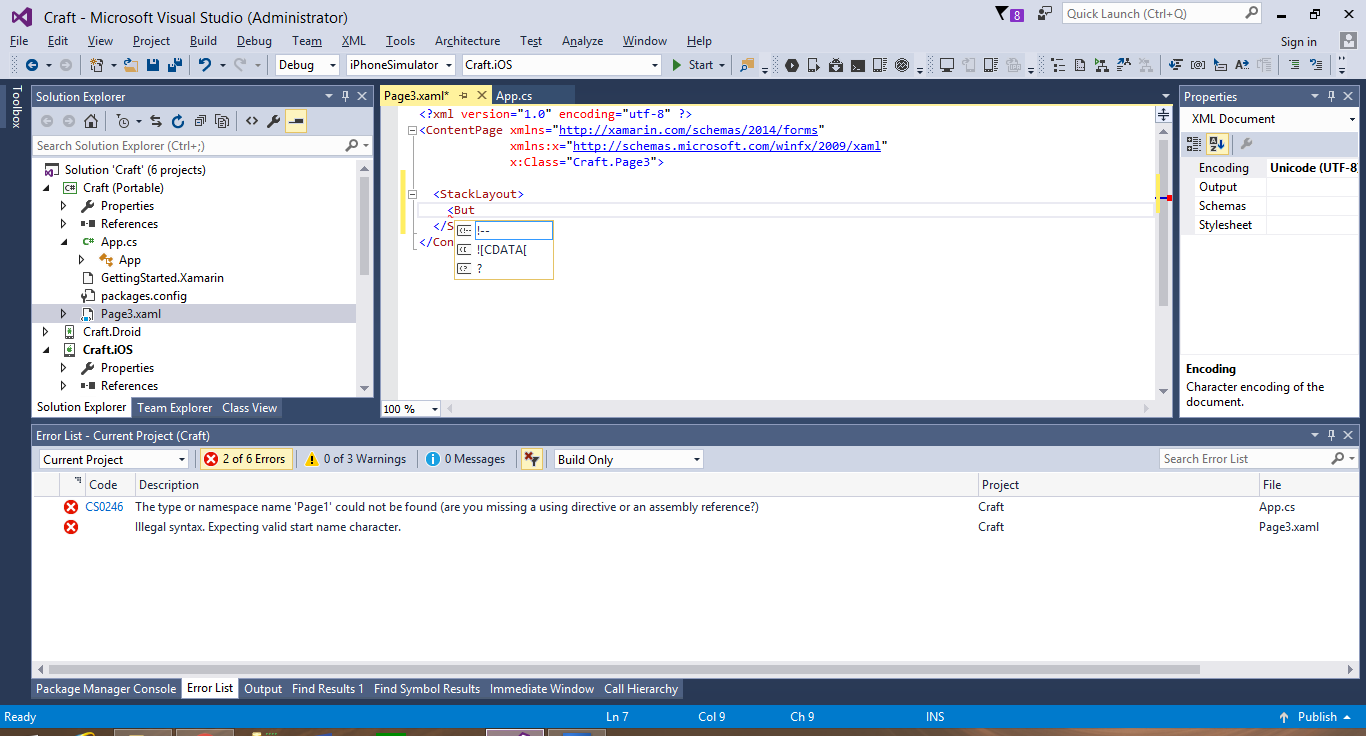 Intellisense problem in Visual Studio — Xamarin Community Forums