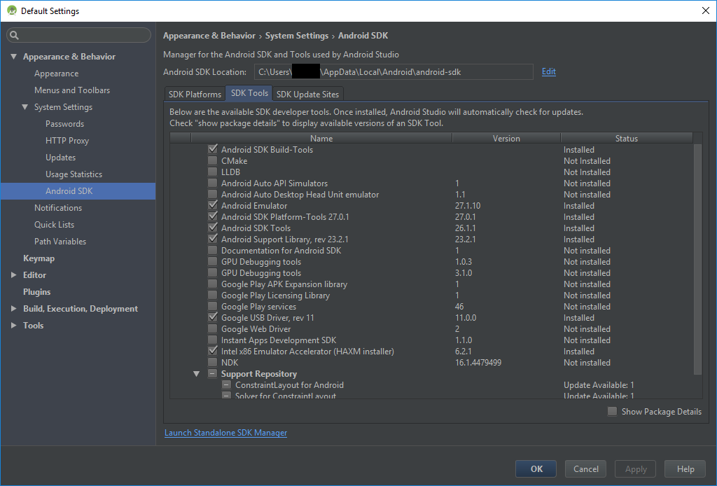 How to update Android SDK Tools? — Xamarin Community Forums