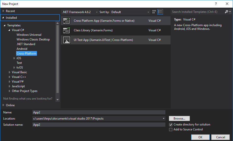 Xamarin Blank App New Project Templates Suddenly Missing from Visual ...