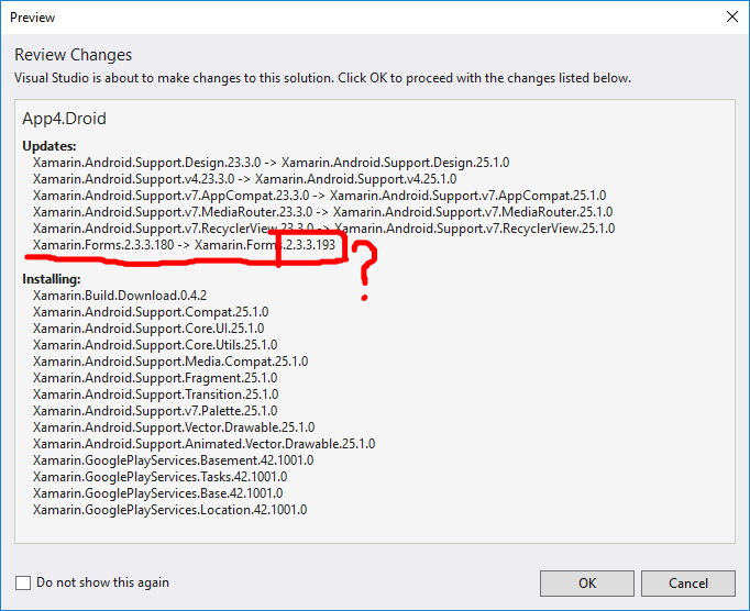 HELP: Xamarin Google Play Services from NuGet requires non