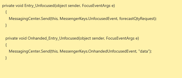 entry field unfocused method not working properly in android