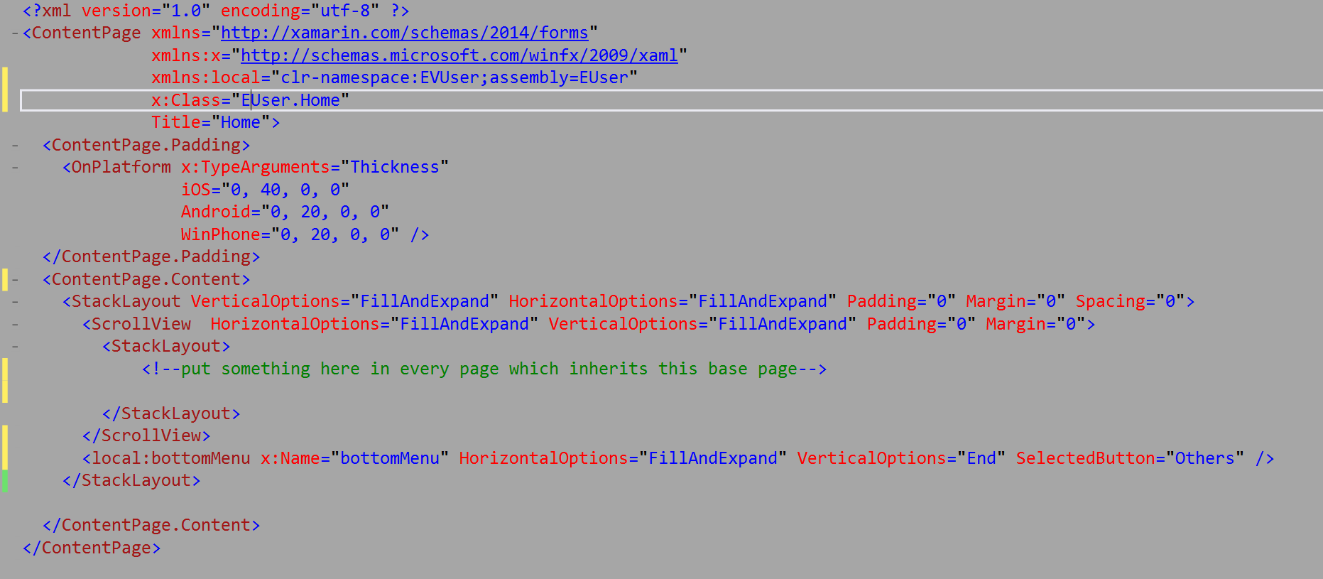 How to inherit my base page in XAML? — Xamarin Community Forums