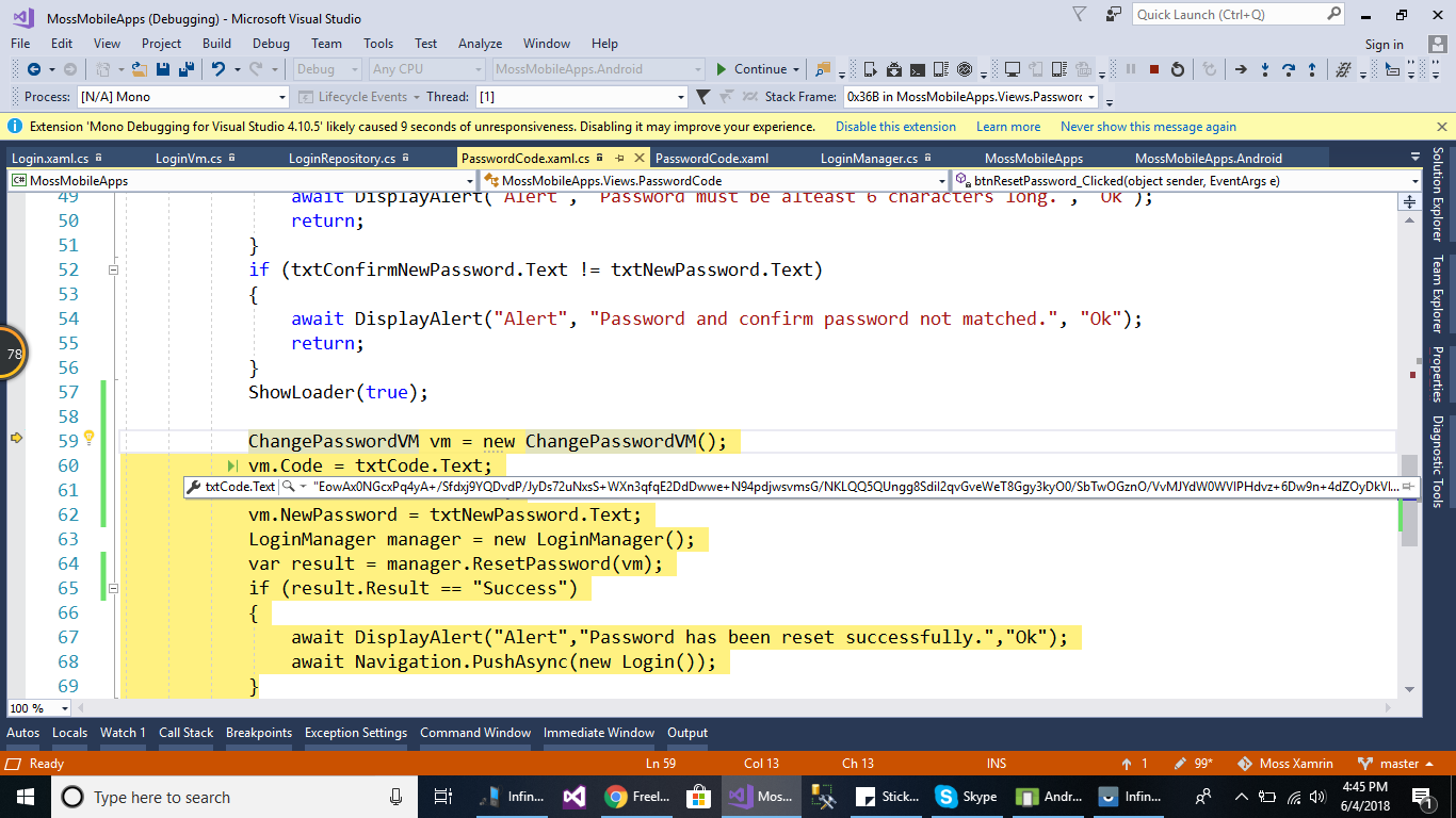 C# object not populating — Xamarin Community Forums