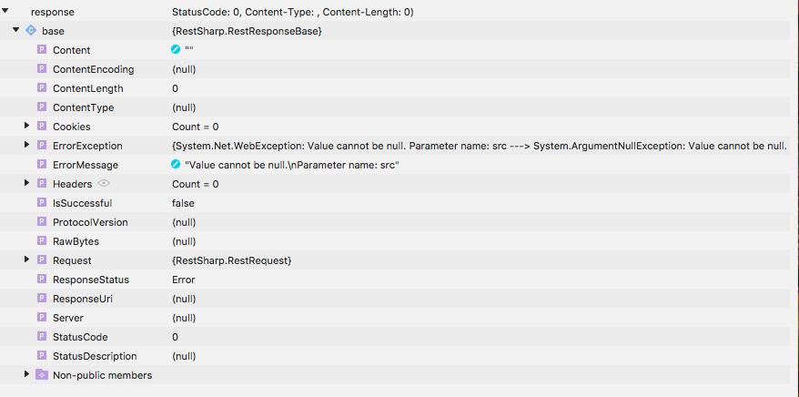 Restsharp breaks with latest Xamarin iOS versions — Xamarin