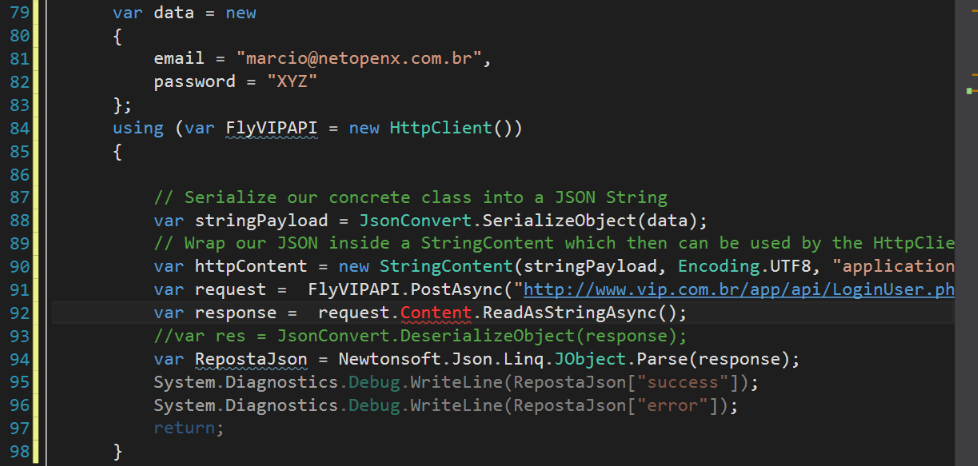 post of JSON content sends only the header  — Xamarin