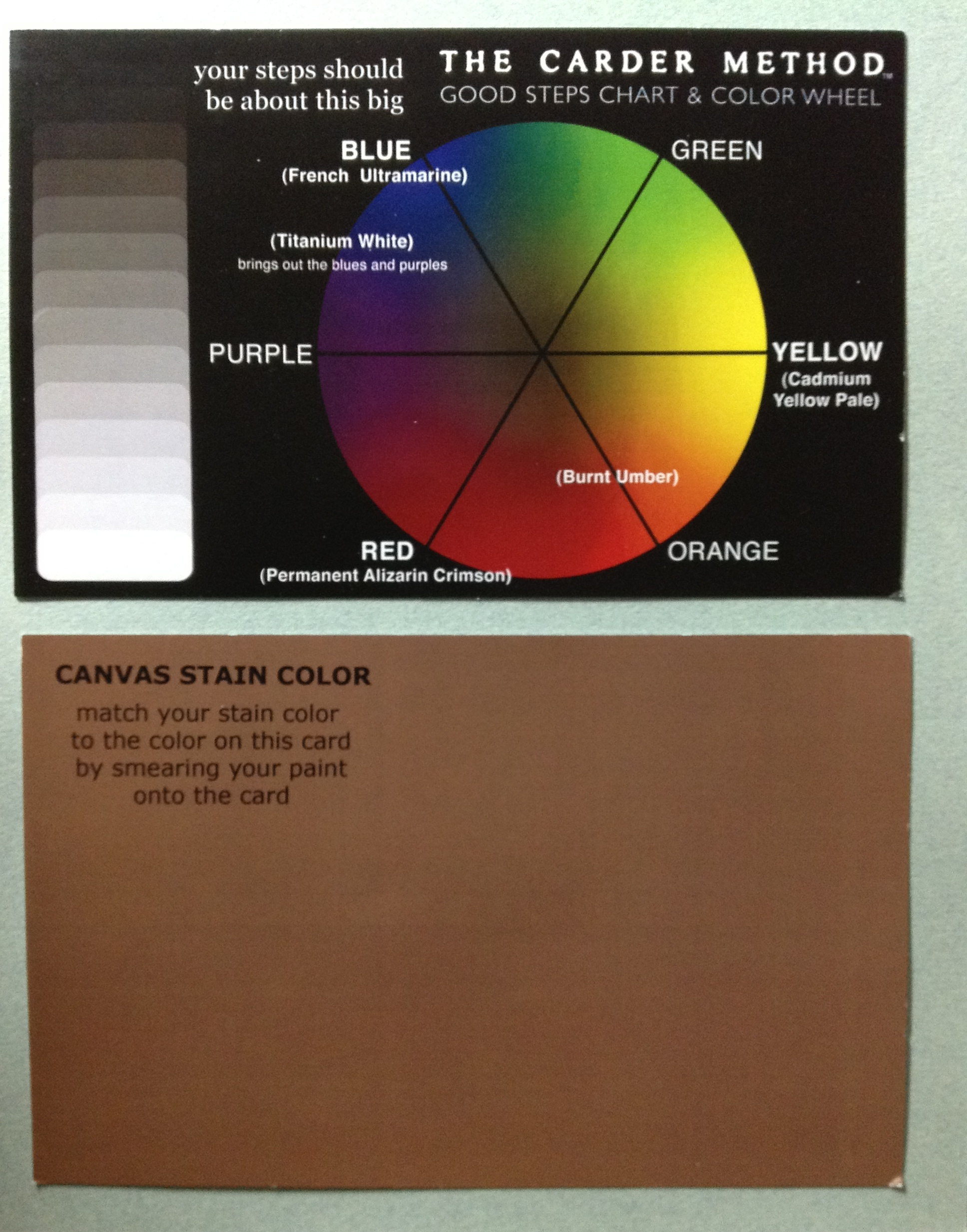 mark s color wheel and canvas stain color card draw mix paint forum