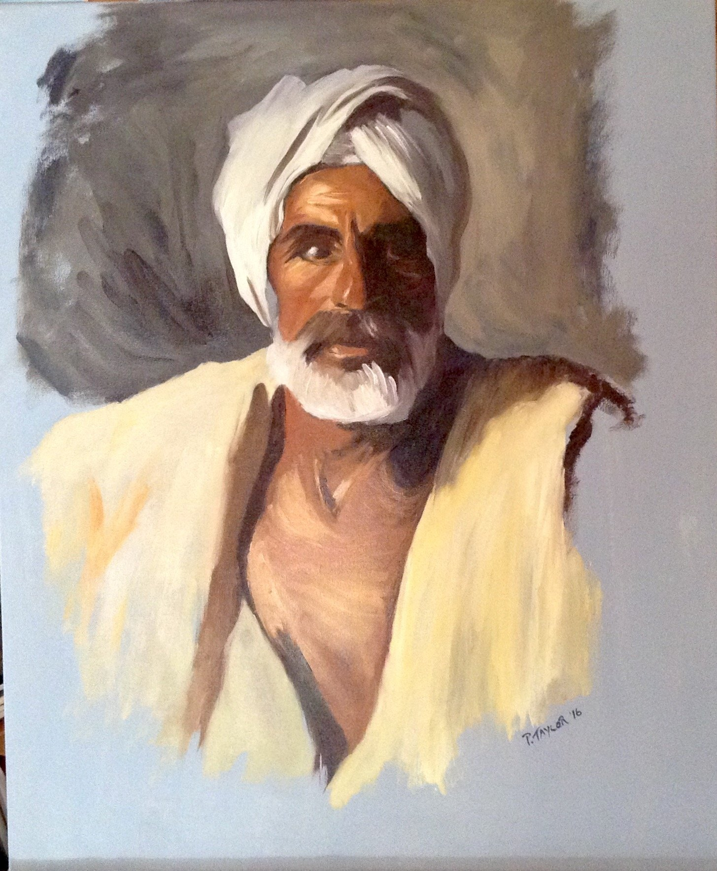 V Singer Oil Painting