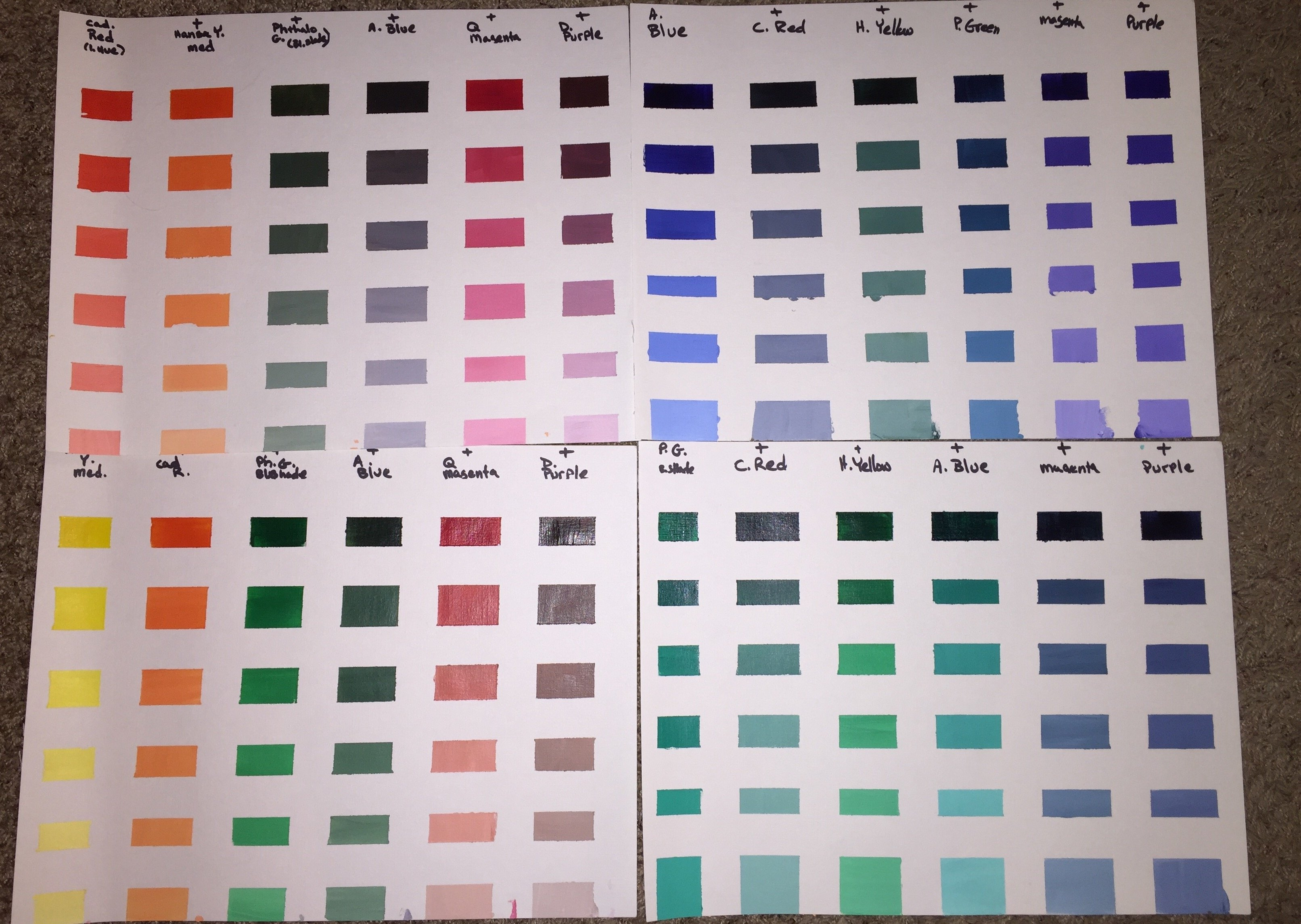 My first color chart draw mix paint forum imageeg 12m nvjuhfo Choice Image