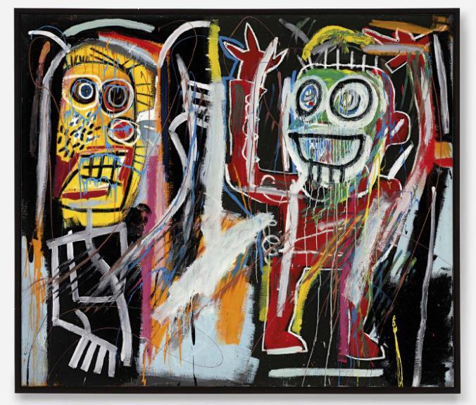 Jean Michel Basquiat Dustheads 1982 Via Christies 1.png ...