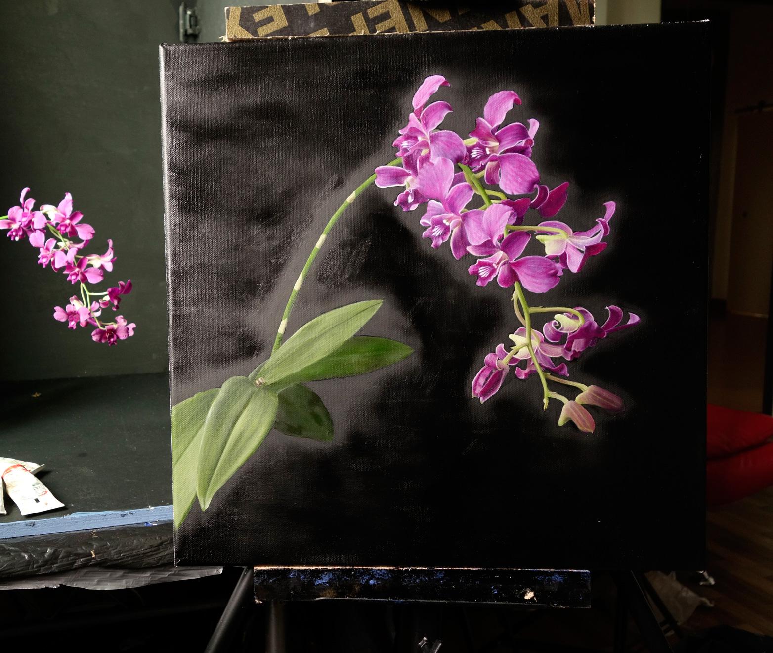 Orchids Still Life Draw Mix Paint Forum