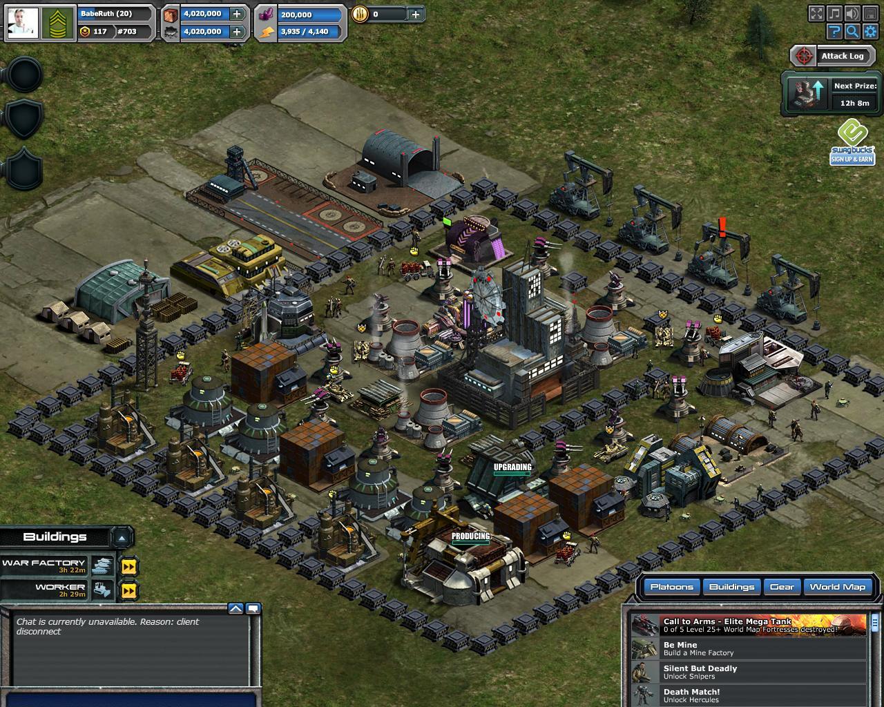 War commander sickle syndicate prizes for mega