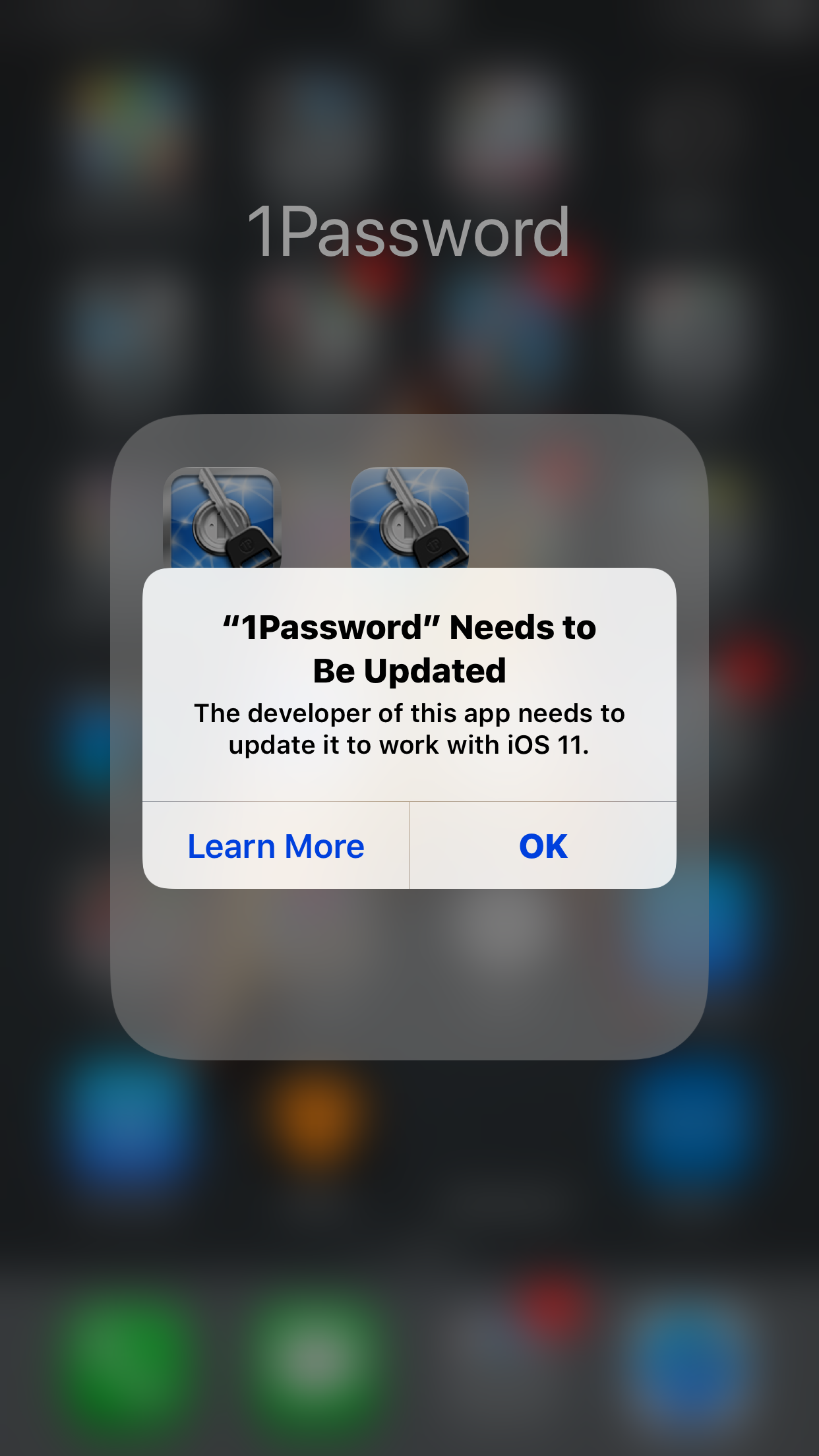 """1Password"" Needs to Be Updated"