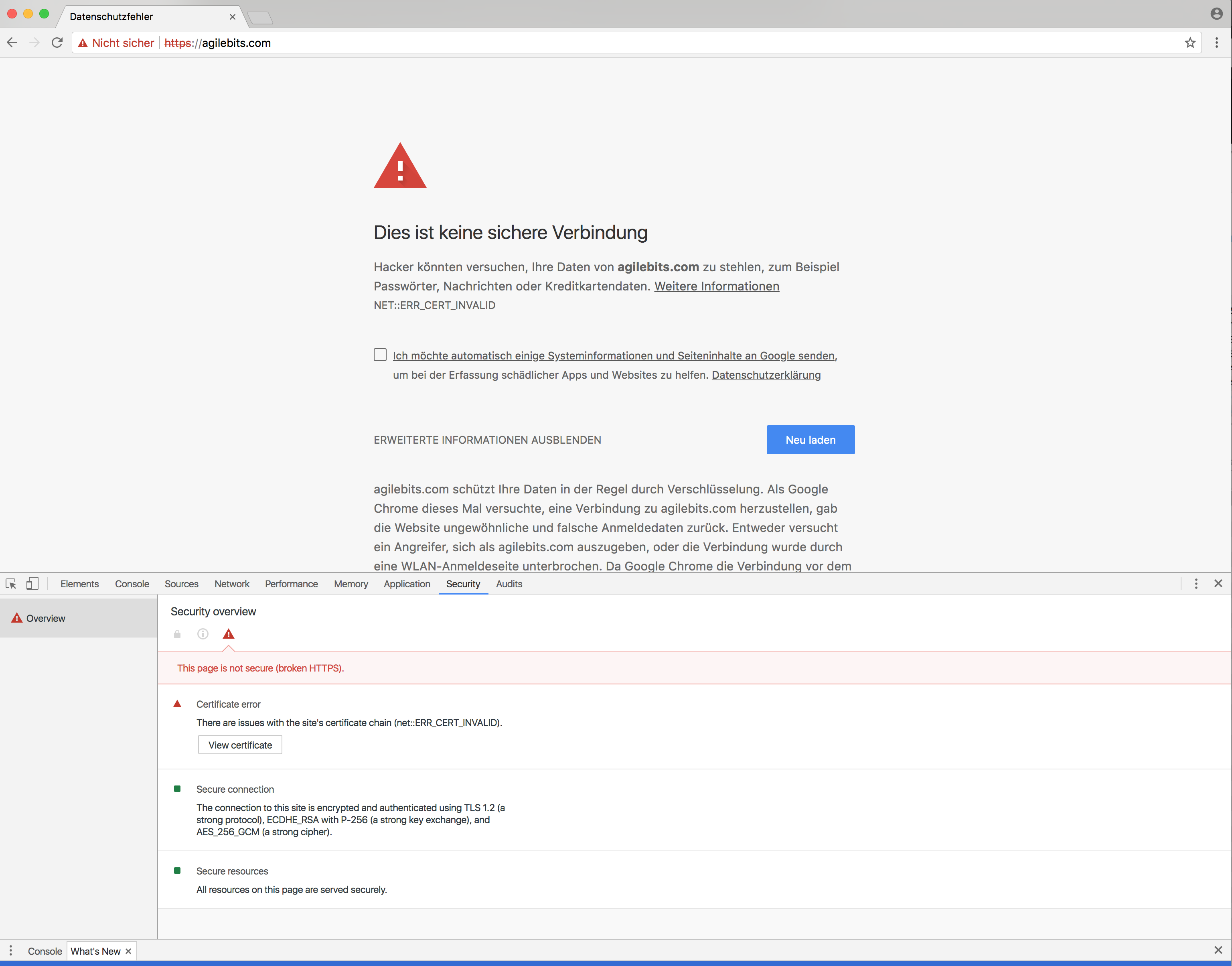 Cannot Access Agilebits Website With Chrome Browser So I Cannot