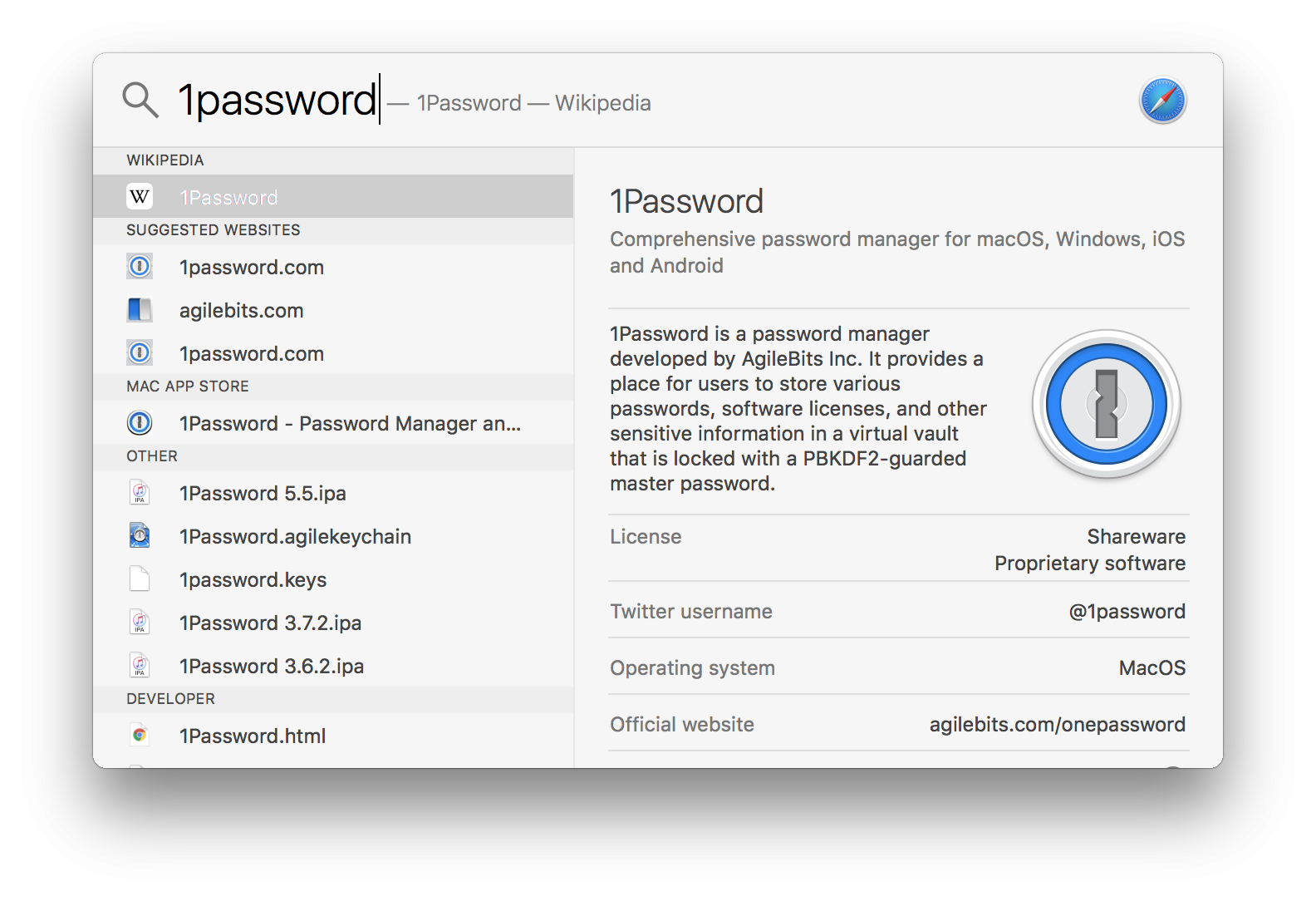 1Password for Mac Not In Spotlight Search Results — 1Password Forum