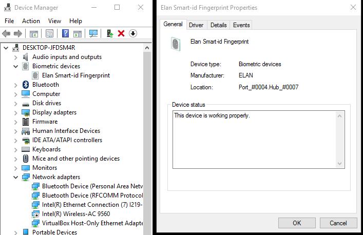 Windows Hello not working with external fingerprint scanner