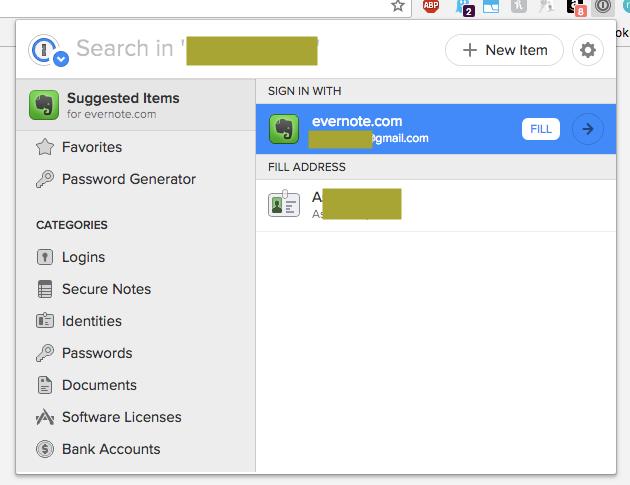 Fill a login feature not working — 1Password Forum