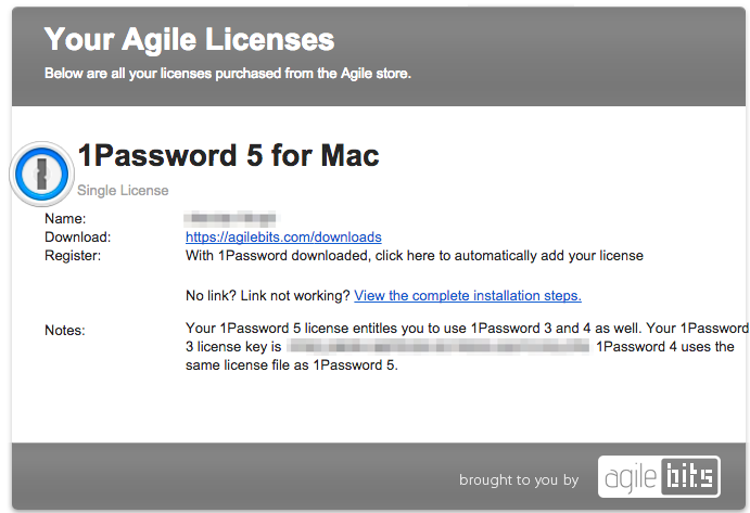 1password 4 licence key