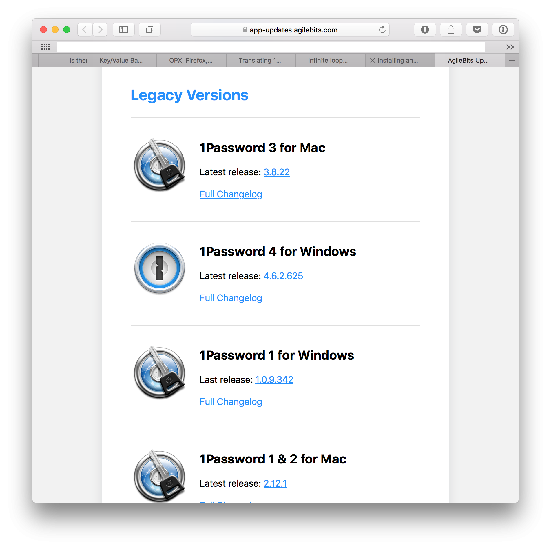 How can I use 1Password with an older version of Firefox