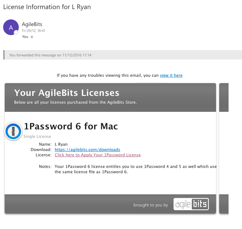 Upgrade Confirmation — 1Password Forum