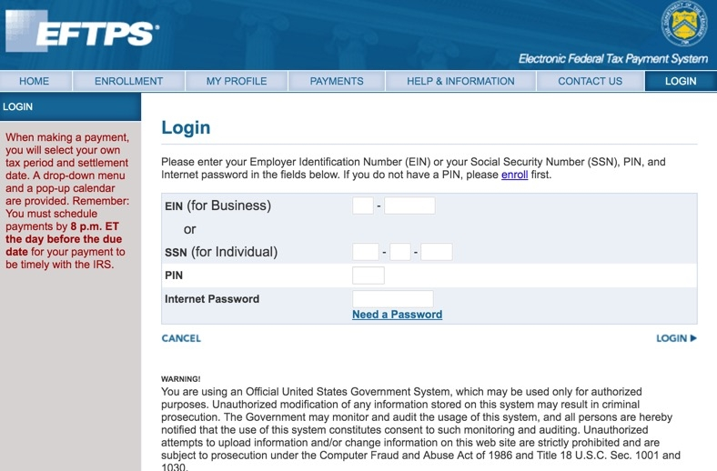 1Password and EFTPS.gov - How to get this to work? — AgileBits ...