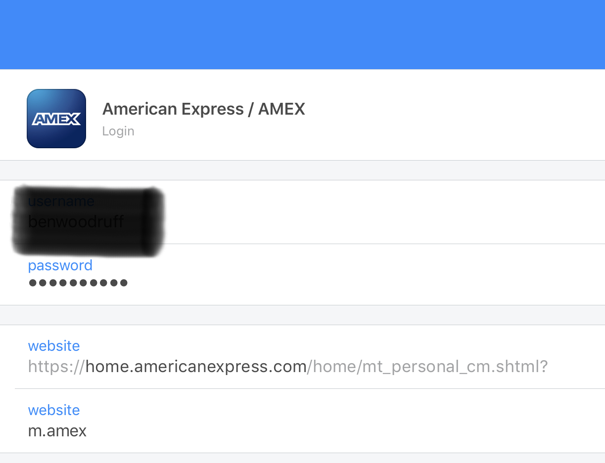 Am Ex Login >> If I Try To Login To My Amex App On Iphone 1password Doesn T