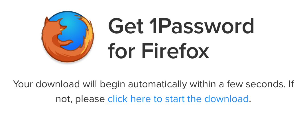 Need to download xpi file for firefox — 1Password Forum