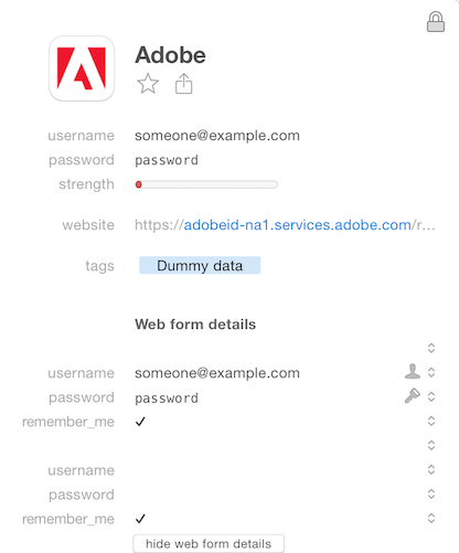 Adobe ID Login doesn't work with 1Password — 1Password Forum