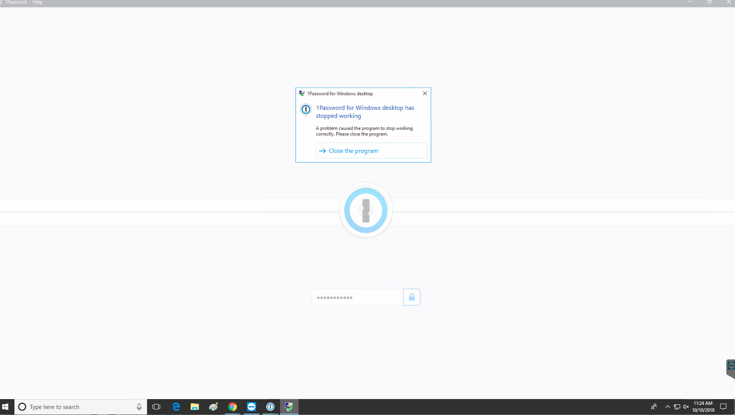 1Password 7 on Windows 10 crashes on launch — 1Password Forum
