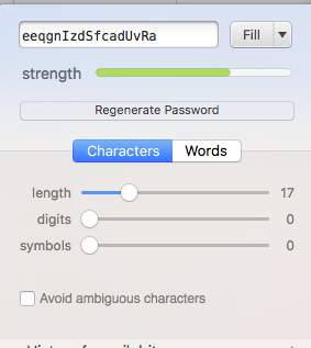 Password Generator in action